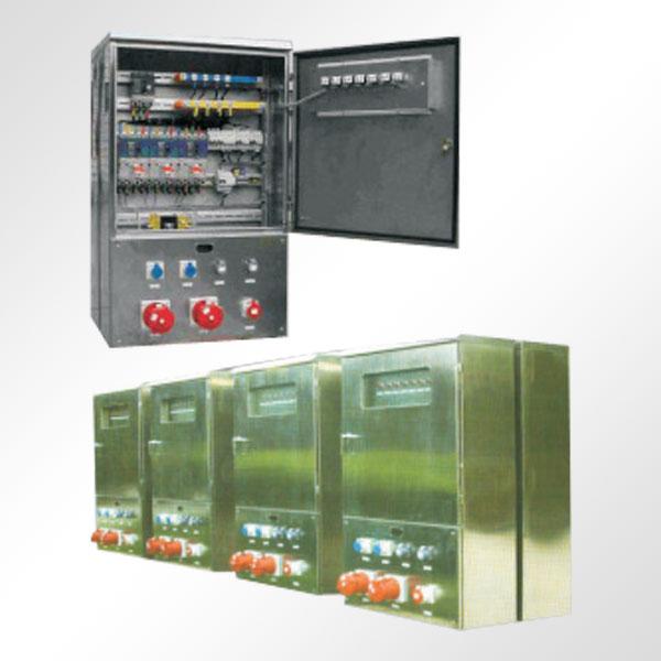 1 概述 1.1 主要用途及适用范围 ZEXJ系列检修电源箱是在交流50Hz~60Hz、380/220V 三相四线或三相五线制电路中,作为检修试验时的动力、照明电源。可广泛应用于发电厂、变电站、厂矿企业等电力用户。 1.2 产品主要特点  优质不锈钢外壳,可户内或户外安装,防护等级达到IP54,亦可根据用户需要定制。  安装方式分为壁挂式和落地式,方便用户选择。  配以防护等级高的工业插头、插座作为电源的输入或输出接口,使用安全方便,尤其适用于工作环境较为恶劣的场合。  有多种规格的插座便于选用。